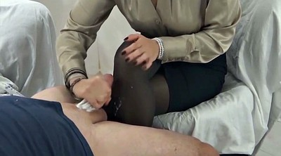 Nylon, Stocking feet, Nylon feet, Stock, Pantyhose cum, Nylon handjob