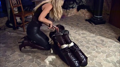 Gagging, Bound, Leather bondage, Rope, Dungeon
