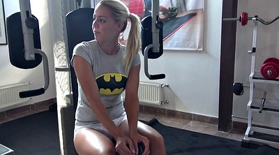 Courtney, Workout, Blond, Asian gym, Asian blonde