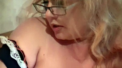Glasses, Russian mature, Maid, Bbw dildo