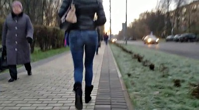 Street, Big ass cam, Walking ass, Street girl