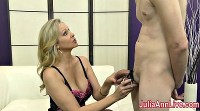 Julia ann, Anne, Slave, Foot slave, Stocking footjob, Stocking feet