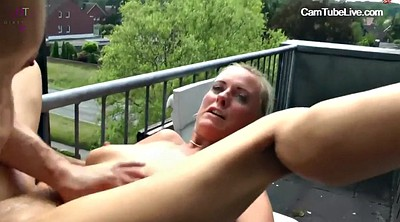 Gangbang, Group sex, Balcony