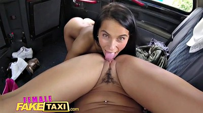 Smoking, Fake taxi, Taxi, Female orgasm, Fake taxi lesbian