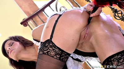 Stockings, Maid big cock, Stockings creampie, Maid creampie