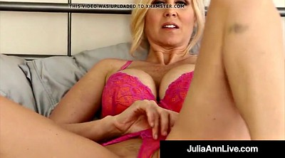Julia ann, Julia, Stockings milf, Bra, Julia ann milf, Milf pantyhose