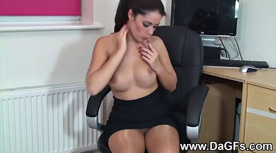 First time, Young dildo, Vibe, Naughty office