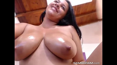 Oil, Cam show, Beautiful chubby