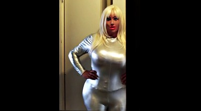 Dolly, Silver, Catsuit