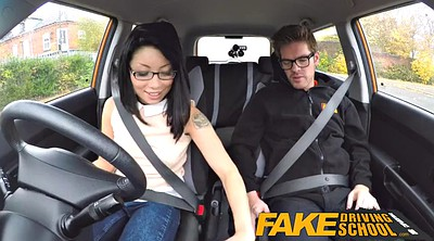 Fake, Fake tits, Asian school, Fake driving, Driving school, Driving