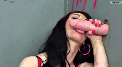 Glory hole, Mature woman, Giant woman, Giant boob