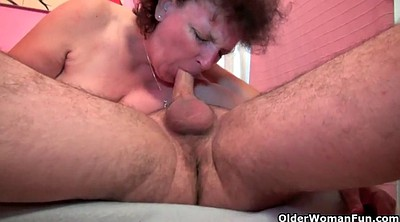 Mature, Young cumshot, Old lady