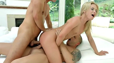 Swallow, Double penetration, Czech blonde