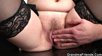 Hairy, Old and young, Pussy sucking, Hairy mature, Granny threesome