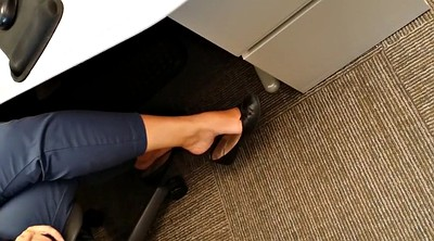 Hidden, Hidden masturbation, Office foot, Ballet