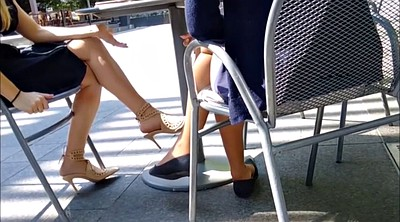 Candid, Two girls, Foot girl