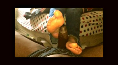 Footjob, Ebony feet, Black feet, Big feet