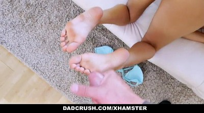 Step daughter, Asian footjob, Asian feet, Daughter pov, Asian daughter, Step pov