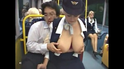 Bus, Groping, Groped, Grope, Mature massage, Mature handjob