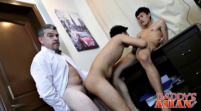 Young, Asian office, Old dad, Gay asian, Asian old gay, Asian old