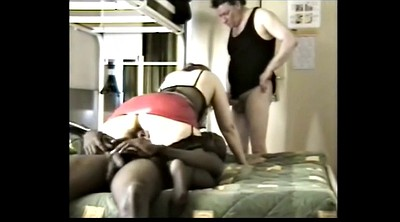 Mature cuckold, Ebony mature