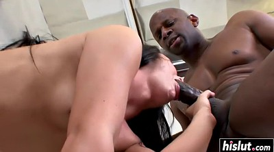 Big black cock, Teen facial