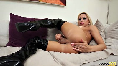 Leather, Boots, Boot, High, Transvestite, Leather boots
