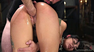 Bondage, Fist, Gina, Latina doggy fucking brunette