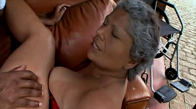Mature latina, Interracial granny