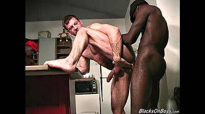 Hairy ebony, Aged, White man, White cock, Middle age, Middle