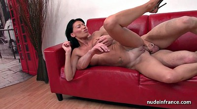 Anal french, French milf, Hard boobs, Anal fuck