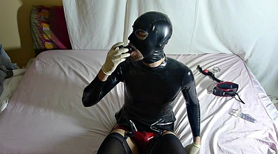 Latex, Plug, Eat cum, Eat, Latex bondage, Gay bondage