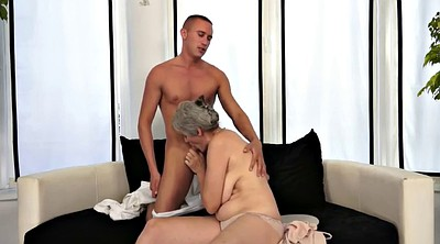Granny, Saggy, Old woman, Mature blowjob