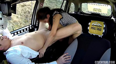 Czech, Big boobs, Taxi