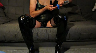 Boots, Mask, Latex boots