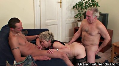 Mature wife, Wife gangbang, Old couple, Young wife, Wife threesome, Mature gangbang