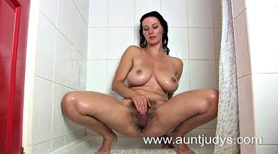 Shower, Natural boobs, Matures, Amateur natural