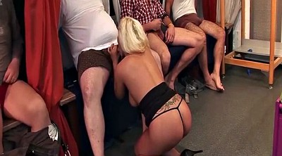 Group sex orgy, Gangbang blonde