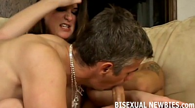 Bisexual, Sex kiss, Femdom threesome, Bisexual threesome