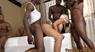 Group anal, Blonde anal