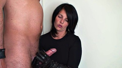 Leather gloves, Leather, Femdom handjob