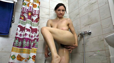 Shower, Brunette, Hairy solo, Hairy hd