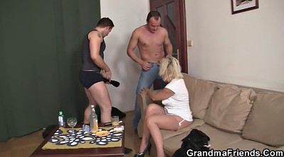 Grandma, Hot wife, Mature threesome, Hot milf, Old young threesome, Hot wifing
