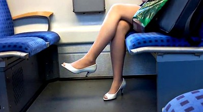 Leg, Leggings, Train, Milf foot
