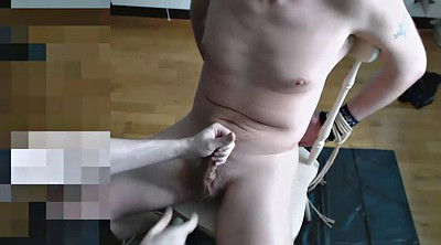 Feet, Gay bondage, Hand, Handjob feet, Gay milking