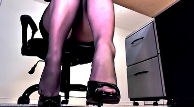 Footjob, Pantyhose feet, Pantyhose footjob, High, Pantyhose foot, High-heeled