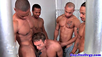 Black muscle, Ebony muscle, Prison, Cums, White black