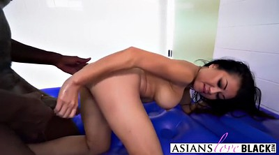 Asian girl, Black girl, Asian interracial