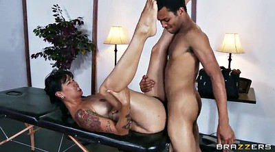 Massage, Bend over, Massive tits, Tool, Massage black