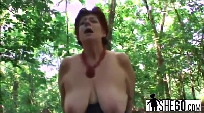 Granny, Natural, Fat mature, Fat granny, Mature outdoor, Mature bbw